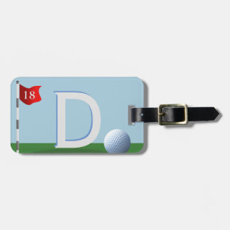 Greatest Golfer Ever Monogram Bag Tag For Golfers