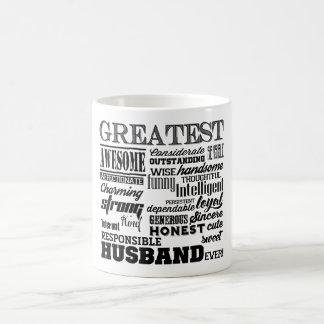 Greatest Husband ever sweet personalized Coffee Mug