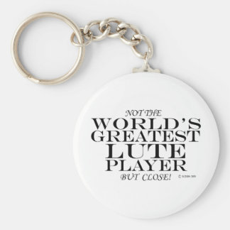 Greatest Lute Player Close Keychain