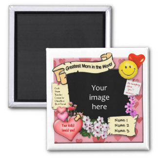 Greatest Mom Photo-Frame Magnet