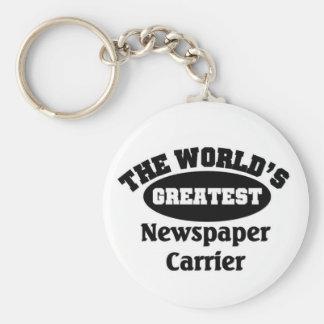 Greatest Newspaper Carrier Keychain