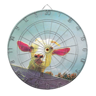 Greatest of All Time pink eared goat Dartboard