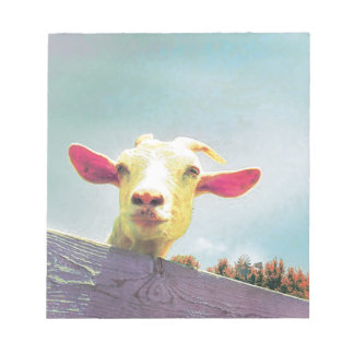 Greatest of All Time pink eared goat Notepad