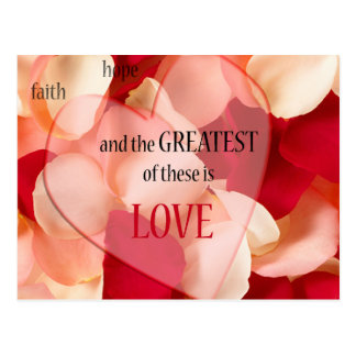 greatest of these is love postcard