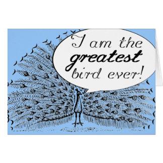 Greatest Peacock Card