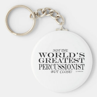 Greatest Percussionist Close Basic Round Button Keychain
