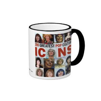 GREATEST POP CULTURE ICONS 2010 RINGER COFFEE MUG