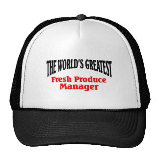 Greatest Produce Manager Trucker Hat