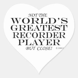 Greatest Recorder Player Close Heart Sticker
