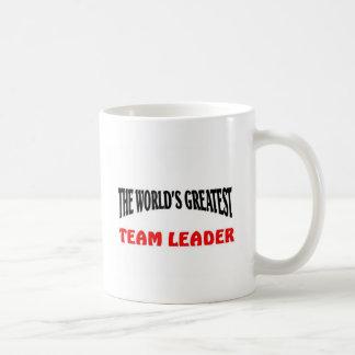Greatest team leader coffee mug