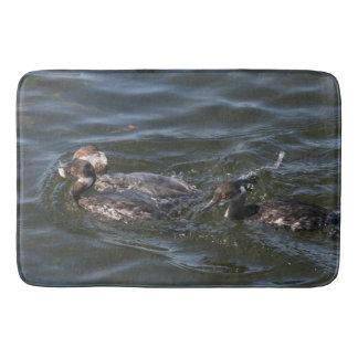 Grebe Birds Wildlife Animal Wetland Bath Mat