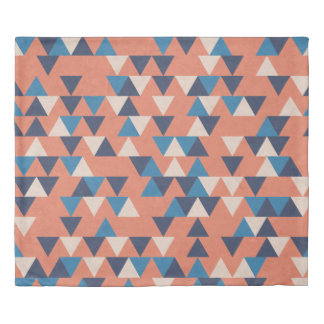 Grecian Holiday, Retro Triangle Duvet Cover