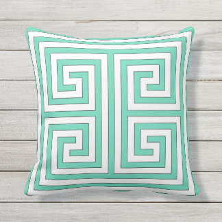 Grecian Style Modern Geometric Pattern Throw Pillow