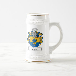 Greco Family Crest Beer Stein