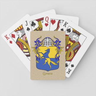 Greco Heraldic Shield and Mantle Poker Deck