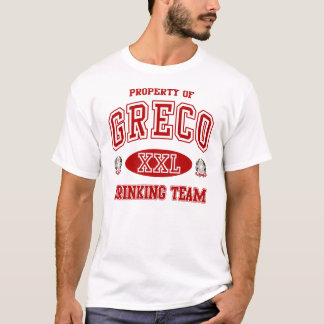 Greco Italian Drinking Team t shirt