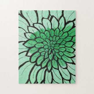 Gree Ombre Chrysanthemum 11x14 Puzzle,Box Puzzle