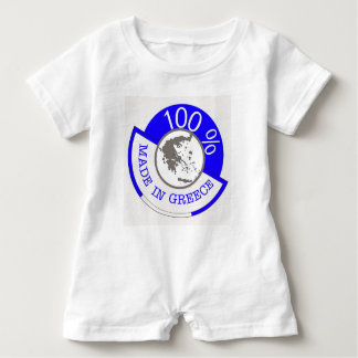 GREECE 100% CREST BABY ROMPER