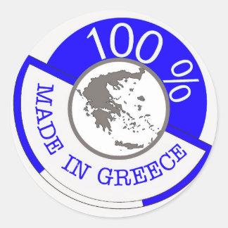 GREECE 100% CREST CLASSIC ROUND STICKER