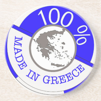 GREECE 100% CREST COASTER