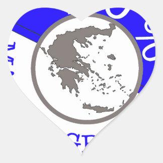 GREECE 100% CREST HEART STICKER