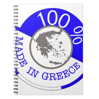 GREECE 100% CREST NOTEBOOK