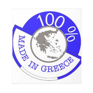 GREECE 100% CREST NOTEPAD