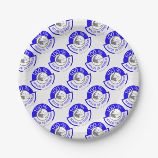 GREECE 100% CREST PAPER PLATE