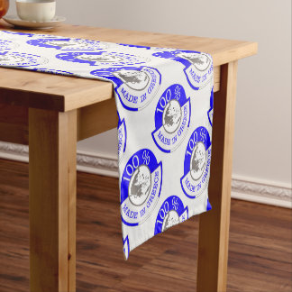 GREECE 100% CREST SHORT TABLE RUNNER