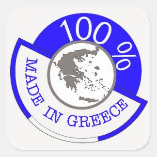 GREECE 100% CREST SQUARE STICKER