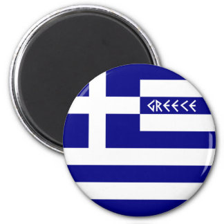 Greece 2 Inch Round Magnet