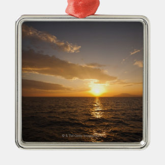 Greece, Aegean Sea horizon at sunrise Metal Ornament