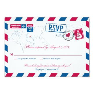 Greece Air Mail Wedding RSVP Custom Announcements