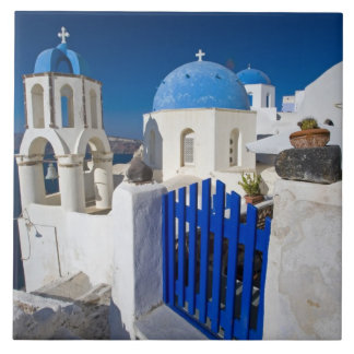 Greece and Greek Island of Santorini town of Oia 3 Tile