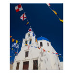 Greece and Greek Island of Santorini town of Oia 4 Posters