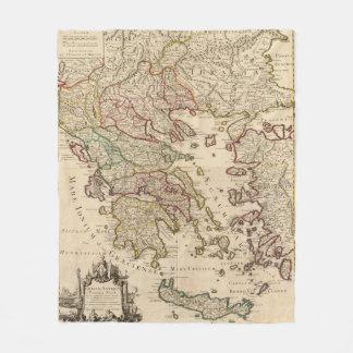 Greece and Macedonia Fleece Blanket
