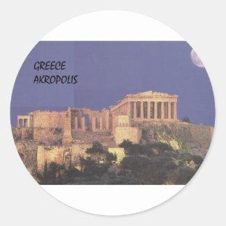 Greece Athens Akropolis Parthenon (St.K) Classic Round Sticker