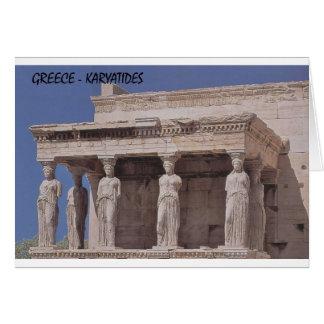Greece Athens Parthenon-karyatides (St.K) Card