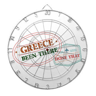 Greece Been There Done That Dartboard