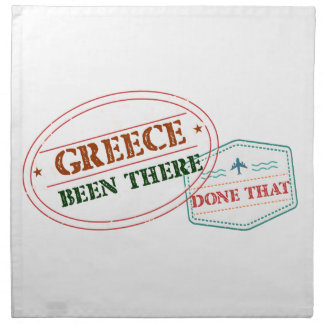 Greece Been There Done That Napkin