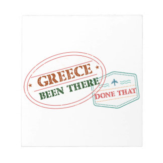 Greece Been There Done That Notepad