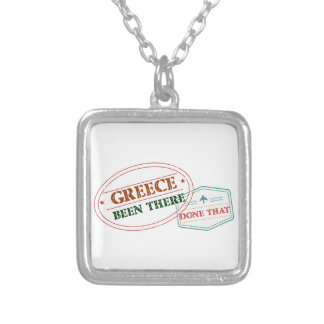 Greece Been There Done That Silver Plated Necklace