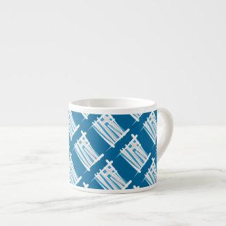 Greece Brush Flag Espresso Cup