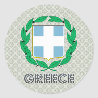 Greece Coat of Arms Classic Round Sticker