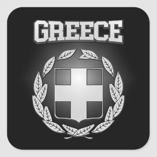 Greece Coat of Arms Square Sticker