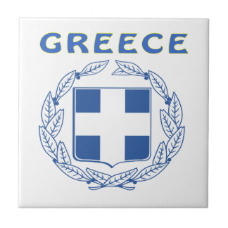 GREECE Coat Of Arms Tile