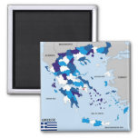 greece country political map flag greek refrigerator magnets