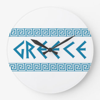 greece country symbol name text greek large clock