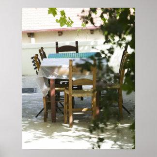 GREECE, CRETE, Hania Province, Vamos: Cafe Table Poster