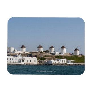 Greece Cyclades Islands Mykonos Mykonos Town Rectangle Magnet